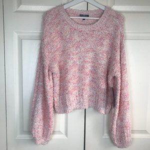 Freshman 1996 sweater cropped nubby size Large